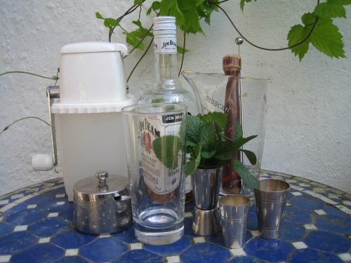 Mint Julep ingredients