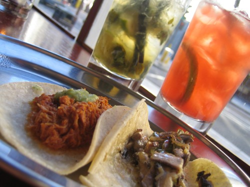 Cocktails and tacos at Boho Mexica