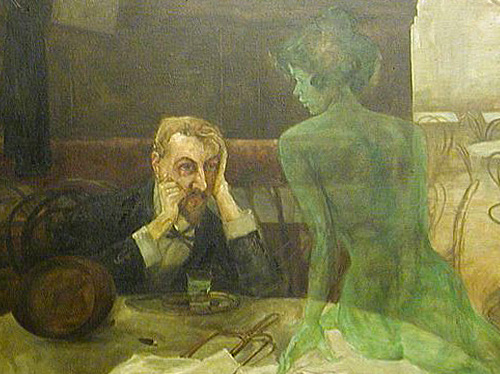Absinthe Drinker by Viktor Oliva