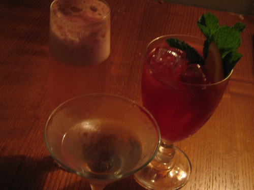A Backwards Bellini, Myrtle Bank Punch and a Martini