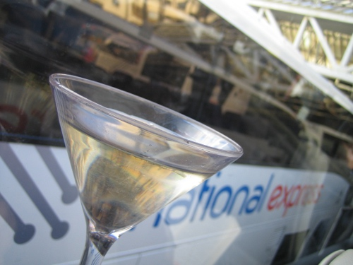 Martini on the coach