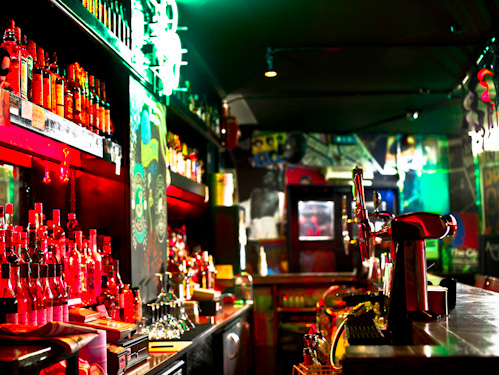 The bar at Aces and Eights