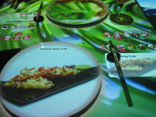 Electronic 'table menus' at Inamo